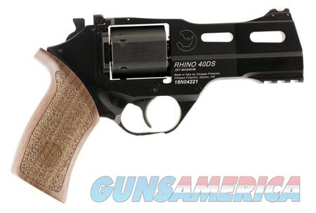 "Chiappa Firearms 340219 Rhino 40DS 357 Mag 4"" 6 Round Black Walnut Grip  Guns > Pistols > C Misc Pistols"
