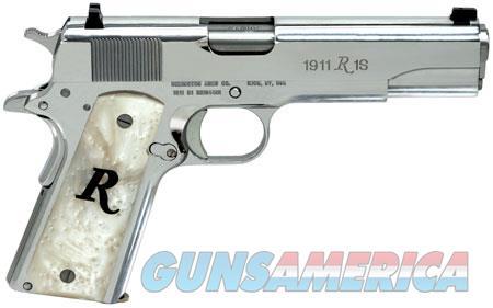 "Remington Firearms 96304 1911 R1 High Polish 45 ACP Single 5"" 7+1 White Synthetic Pearl Grip  Guns > Pistols > Remington Pistols - Modern > 1911"