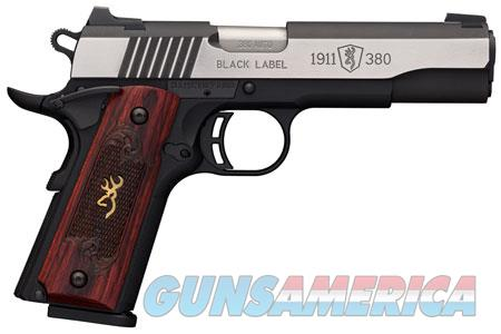 "Browning 051914492 1911-380 Single 380 ACP 4.25"" 8+1 Black/Gray G10 Grip Black Stainless Steel  Guns > Pistols > B Misc Pistols"