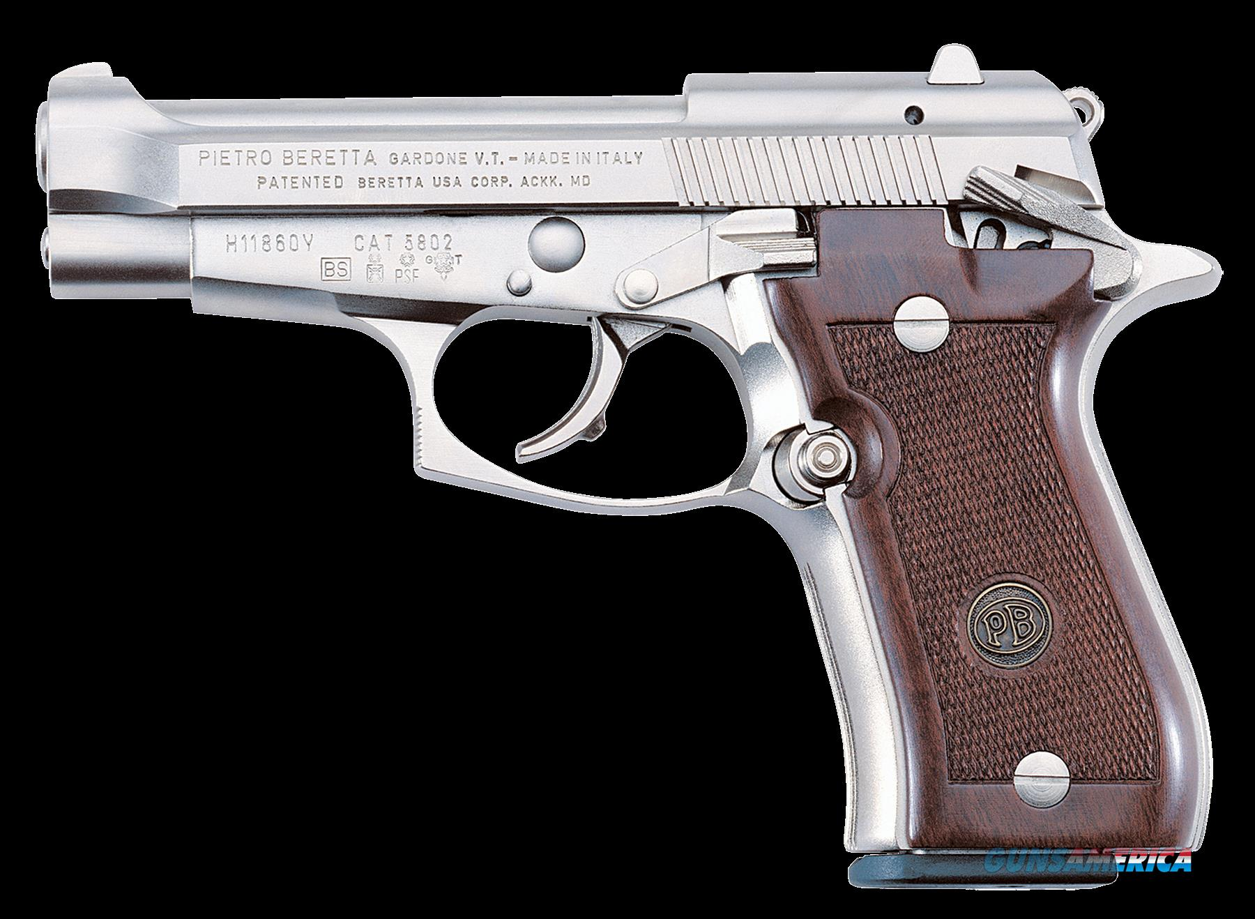 "Beretta J85F212 85 FS Cheetah SA/DA 380 ACP 3.8"" 8+1 Walnut Grip Nickel Finish  Guns > Pistols > B Misc Pistols"