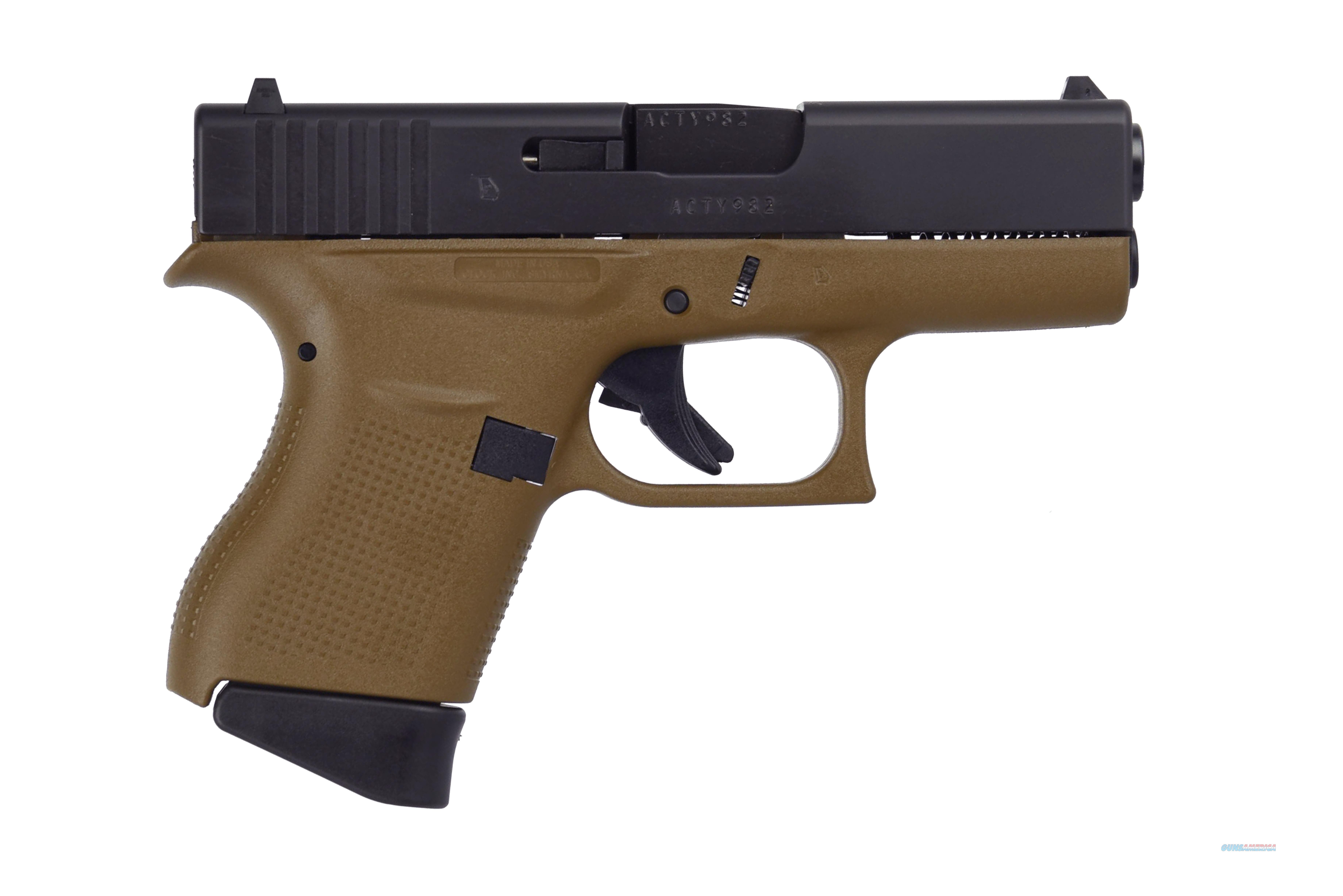 GLOCK G43 G3 FDE 9MM 6+1 3.39 FS TWO 6RD MAGAZINES  Guns > Pistols > Glock Pistols > 43