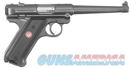 "Ruger 40105 Mark IV Standard  22 LR SAO 6"" 10+1 Black Aluminum Grip Blued Slide  Guns > Pistols > R Misc Pistols"