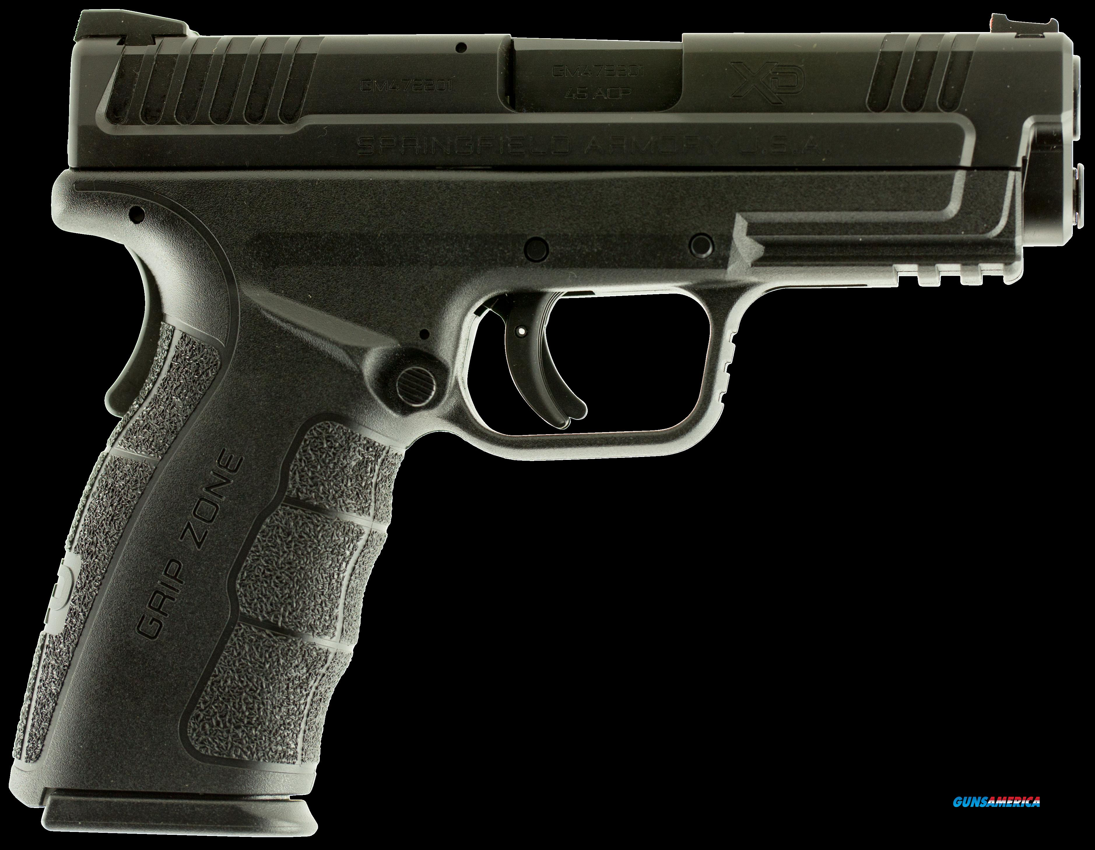 "Springfield Armory XDG9445B XD Mod.2 Service Double 45 ACP 4"" 10+1 Black Polymer Grip Black Melonite  Guns > Pistols > S Misc Pistols"