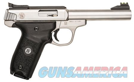 """Smith & Wesson 108490 SW22 Victory 22 LR 5.50"""" 10+1 Stainless Steel Stainless Steel Black Polymer  Guns > Pistols > Smith & Wesson Pistols - Autos > .22 Autos"""