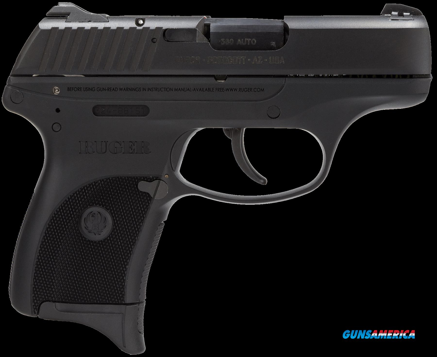 "Ruger 3219 LC380 Standard 380 ACP 3.12"" 7+1 Black Checkered Grip Blued  Guns > Pistols > R Misc Pistols"
