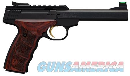 "Browning 051533490 Buck Mark Plus 22 LR 5.50"" 10+1 Black Black Rosewood Ultragrip DX Grip  Guns > Pistols > B Misc Pistols"