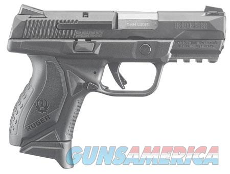 "Ruger 8663 American Compact 9mm Luger 3.55"" 10+1 Black Polymer Wrap Around Ergonomic  Guns > Pistols > R Misc Pistols"