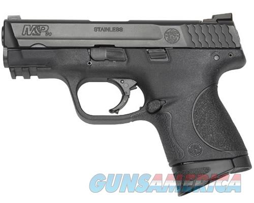 "Smith & Wesson 109204 M&P 9 Compact Double 9mm Luger 3.5"" 10+1 Black Interchangeable Backstrap Grip  Guns > Pistols > Smith & Wesson Pistols - Autos > Polymer Frame"