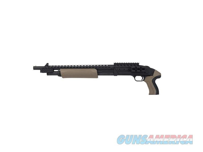 Mossberg 500 SCORP CRUIS 12/18.5 BL/FDE FDE FURNITURE|RAIL/HEATSHIELD  Guns > Shotguns > MN Misc Shotguns