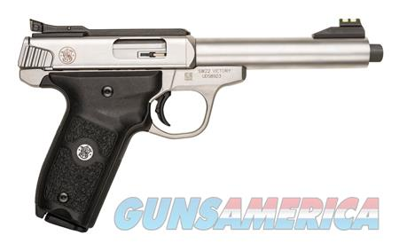 """Smith & Wesson 10201 SW22 Victory 22 Long Rifle (LR) Single 5.50"""" 10+1 Black Polymer Grip Stainless  Guns > Pistols > Smith & Wesson Pistols - Autos > .22 Autos"""