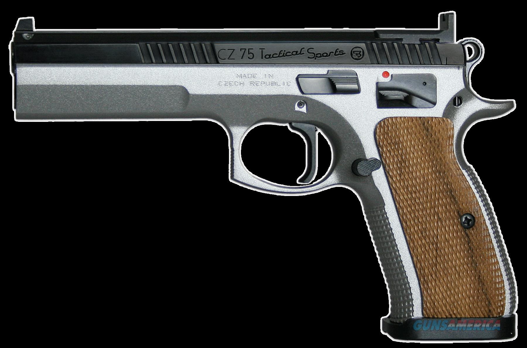"CZ 91171 CZ 75 Tactical Sport Single 40 Smith & Wesson (S&W) 5.23"" 16+1 Wood Grip Silver Polycoat  Guns > Rifles > CZ Rifles"