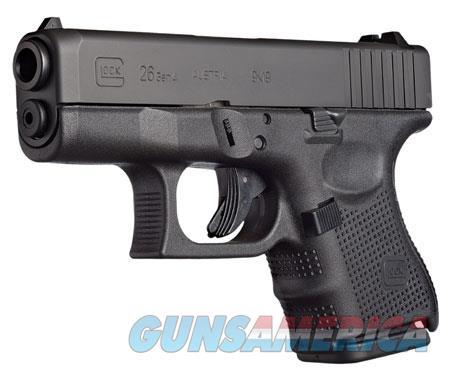 "Glock UG2650201 G26 Gen 4 Double 9mm Luger 3.42"" 10+1 Black Interchangeable Backstrap Grip Black  Guns > Pistols > G Misc Pistols"