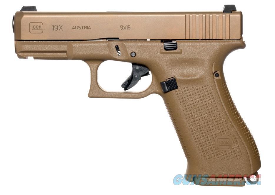 Glock PX1950701 19X Crossover 9mm Luger Double 10+1 GNS Coyote Interchangeable Backstrap Grip  Guns > Pistols > Glock Pistols > 19/19X