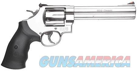 """Smith & Wesson 163638 629 Classic 44 Rem Mag 6 Round 6.50"""" Stainless Steel Black Synthetic Grip  Guns > Pistols > Smith & Wesson Revolvers > Model 629"""