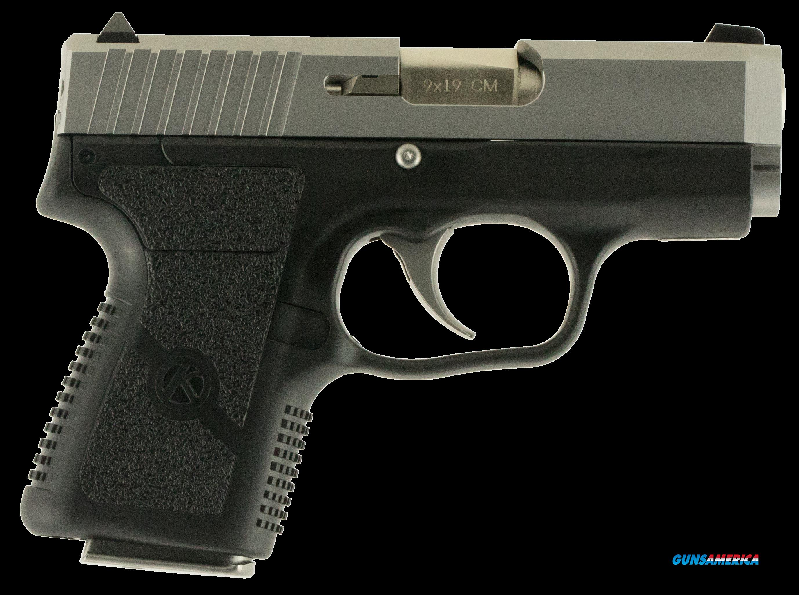 "Kahr Arms CM9093HM CM9 Double 9mm Luger 3"" 6+1 Black Polymer Grip Stainless with Holster and  Guns > Pistols > K Misc Pistols"