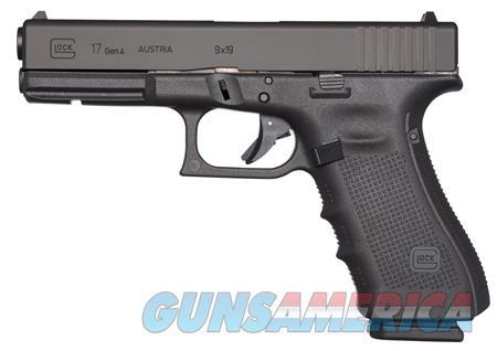 "Glock UG1750201 G17 Gen4 Double 9mm Luger 4.48"" 10+1 FS Black Interchangeable Backstrap Grip Black  Guns > Pistols > G Misc Pistols"
