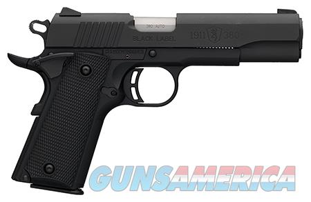 "Browning 051904492 1911-380 Black Label 380 ACP 4.25"" 8+1 Black Polymer  Guns > Pistols > Browning Pistols"