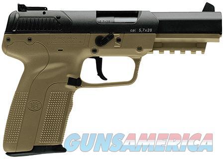 "FN 3868929352 Five-seveN  5.7x28mm 4.80"" 10+1 Flat Dark Earth Black Flat Dark Earth Polymer Grip  Guns > Pistols > FNH - Fabrique Nationale (FN) Pistols > FiveSeven"