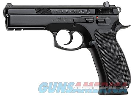 "CZ 91152 CZ 75 SP-01 9mm Luger Single/Double 4.6"" 18+1 Black Rubber Grip Black Slide  Guns > Rifles > CZ Rifles"