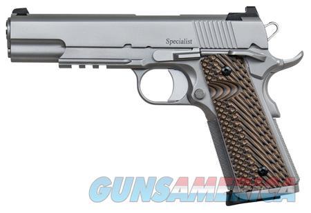 "Dan Wesson 01893 Specialist   9mm Luger Single 5"" 10+1 Brown VZ Operator II G10 Grip Stainless Steel  Guns > Pistols > D Misc Pistols"