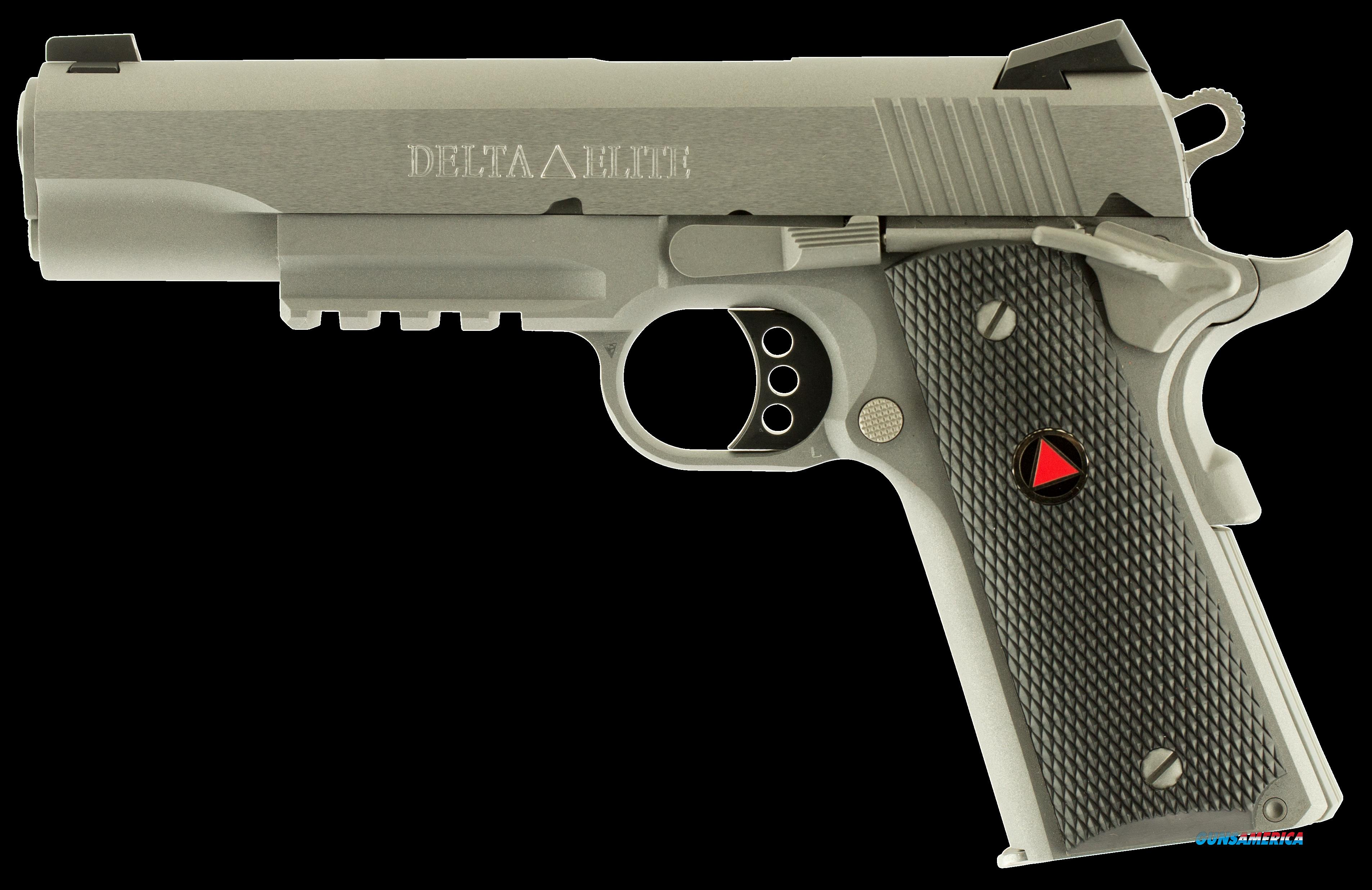 "Colt Mfg O2020RG 1911 Delta Elite Rail Gun Single 10mm 5"" 8+1 Black Polymer w/Delta Medallion Grip  Guns > Pistols > C Misc Pistols"