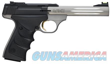 """Browning 051500490 Buck Mark Lite 22 LR 5.50"""" 10+1 Gray Aluminum Alloy Black Ultragrip RX  Guns > Pistols > Browning Pistols > Buckmark"""