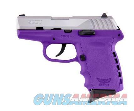SCCY Industries CPX-2 9MM SS/PURPLE 10+1 PURPLE POLYMER FRAME|NO SAFETY  Guns > Pistols > SCCY Pistols > CPX2