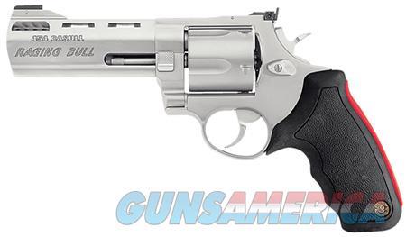 "Taurus 2454059M 454 Raging Bull Single/Double 454 Casull 5"" 5 rd Black Rubber Grip Stainless  Guns > Pistols > Taurus Pistols > Revolvers"