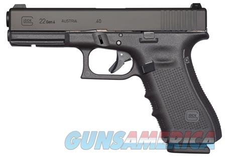 "Glock UG2250201 G22 Gen 4 40 S&W Double 4.48"" 10+1 Black Interchangeable Backstrap Grip Black Slide  Guns > Pistols > G Misc Pistols"
