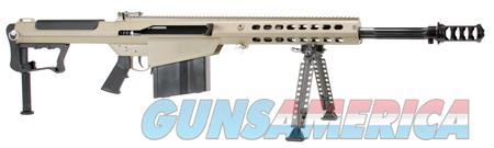 """Barrett 14558 M107 A1  Semi-Automatic 50 Browning Machine Gun (BMG) 20"""" 10+1 Fixed Flat Dark Earth  Guns > Rifles > Barrett Rifles"""
