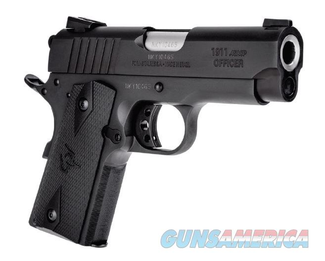 "Taurus 191101OFC 1911 Officer Single 45 Automatic Colt Pistol (ACP) 3.5"" 6+1 Black Polymer Grip  Guns > Pistols > Taurus Pistols > Semi Auto Pistols > Steel Frame"