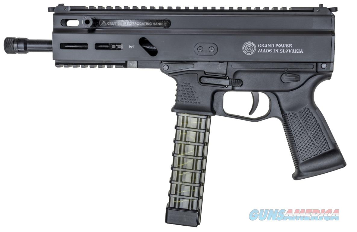 "Grand Power GPSP9A1 Stribog Carbine Pistol Pistol Semi-Automatic 9mm Luger 8"" TB 20+1 Black Polymer  Guns > Rifles > G Misc Rifles"