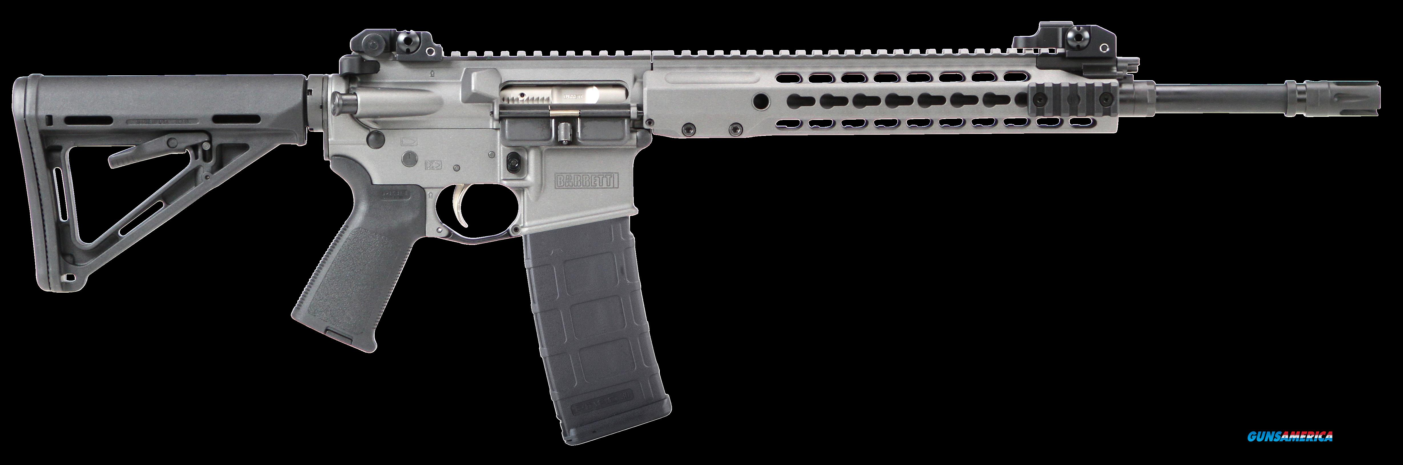"Barrett 14560 REC7 Gen II Semi-Automatic 223 Remington/5.56 NATO 16"" 30+1 Magpul MOE Blk Stk Gray  Guns > Rifles > Barrett Rifles"