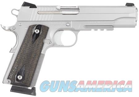 """Sig Sauer 1911R45SSSCA 1911 Full Size *CA Compliant* 45 ACP Single 5"""" 8+1 Blackwood Grip Stainless  Guns > Pistols > Sig - Sauer/Sigarms Pistols > 1911"""