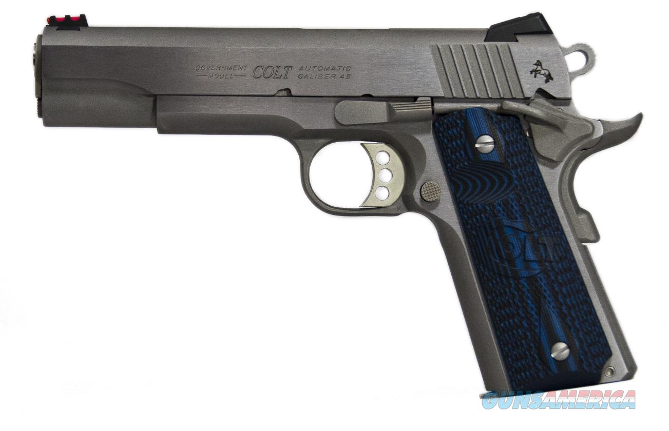 "Colt Mfg O1073CCS 1911 Competition 70 Series  38 Super Single 5"" 9+1 Blue G10 w/Logo Grip Stainless  Guns > Pistols > C Misc Pistols"