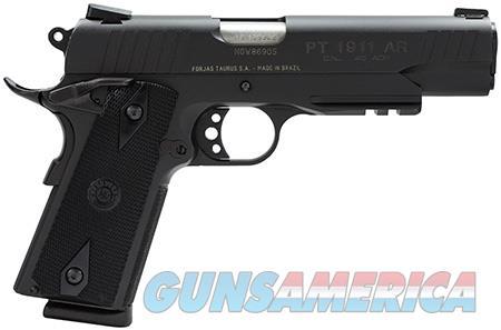 "Taurus 1191101B1 1911 Standard with Picatinny Rail 45 ACP Single 5"" 8+1 Black Synthetic Grip Blued  Guns > Pistols > Taurus Pistols > Semi Auto Pistols > Steel Frame"