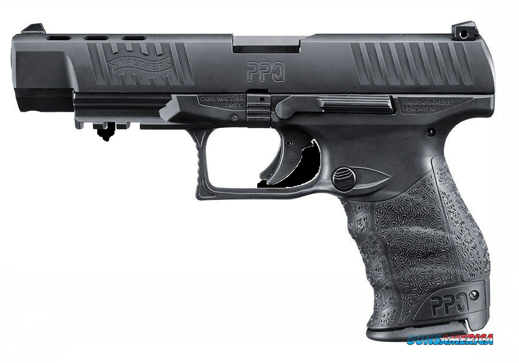 "Walther Arms 2796104 PPQ M2 Double 40 Smith & Wesson (S&W) 5"" 11+1 Black Polymer Grip/Frame Grip  Guns > Pistols > W Misc Pistols"