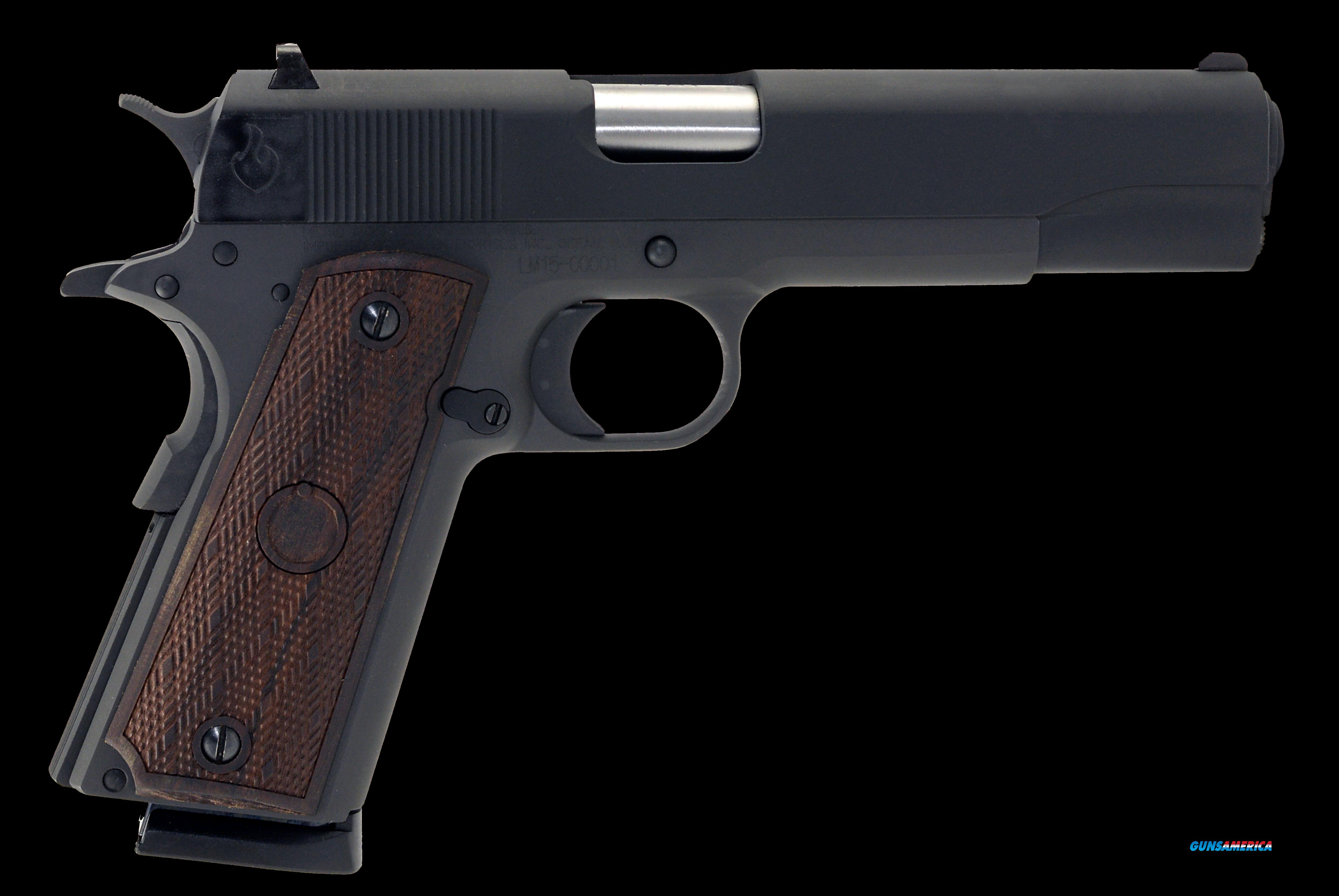 "Llama LM145B 1911 Max-I Single 45 Automatic Colt Pistol (ACP) 5"" 8+1 Hardwood Grip Blued  Guns > Pistols > Llama Pistols"