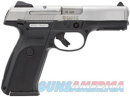 "Ruger 3470 SR40 Standard  40 S&W SA/DA 4.14"" 15+1/10+1 Black Polymer Grip Stainless Steel Slide  Guns > Pistols > Ruger Semi-Auto Pistols > SR Family"