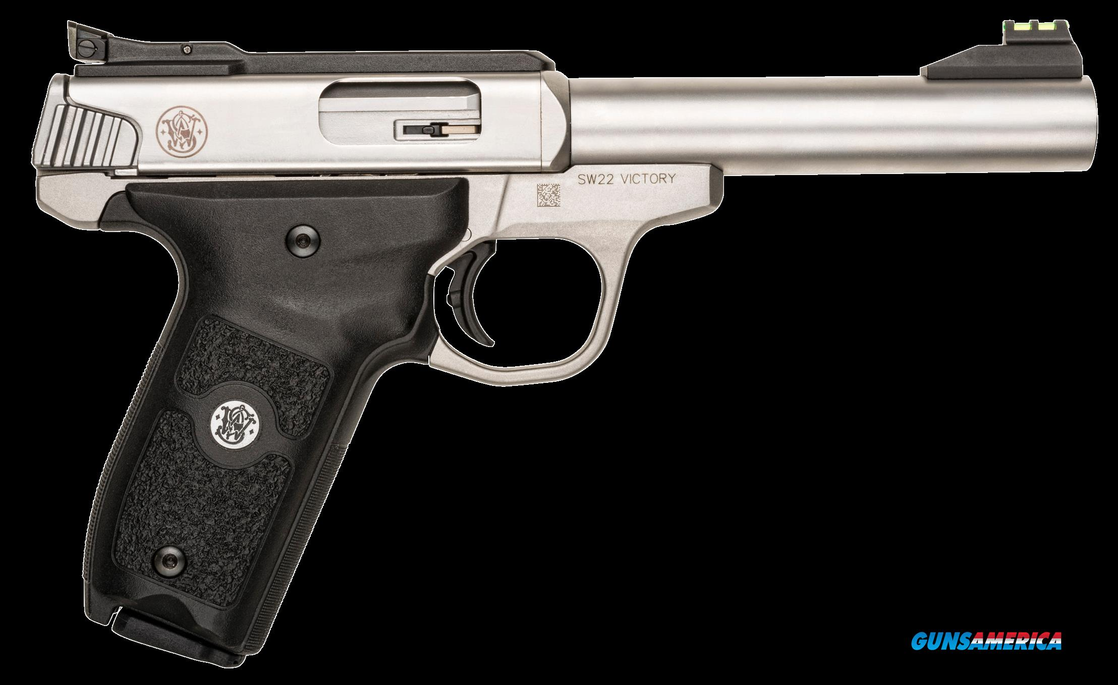"Smith & Wesson 108490 SW22 Victory Single 22 Long Rifle 5.5"" 10+1 Black Polymer Grip Stainless  Guns > Pistols > S Misc Pistols"