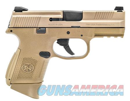 """FN 66100113 FNS Compact 9mm Luger 3.60"""" 10+1 Flat Dark Earth Interchangeable Backstrap  Guns > Pistols > FNH - Fabrique Nationale (FN) Pistols > FNS"""