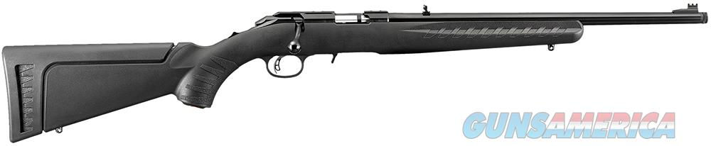 "Ruger 8322 American Rimfire Standard Bolt 22 WMR 18"" 9+1 Synthetic Black Stk Blued  Guns > Rifles > R Misc Rifles"