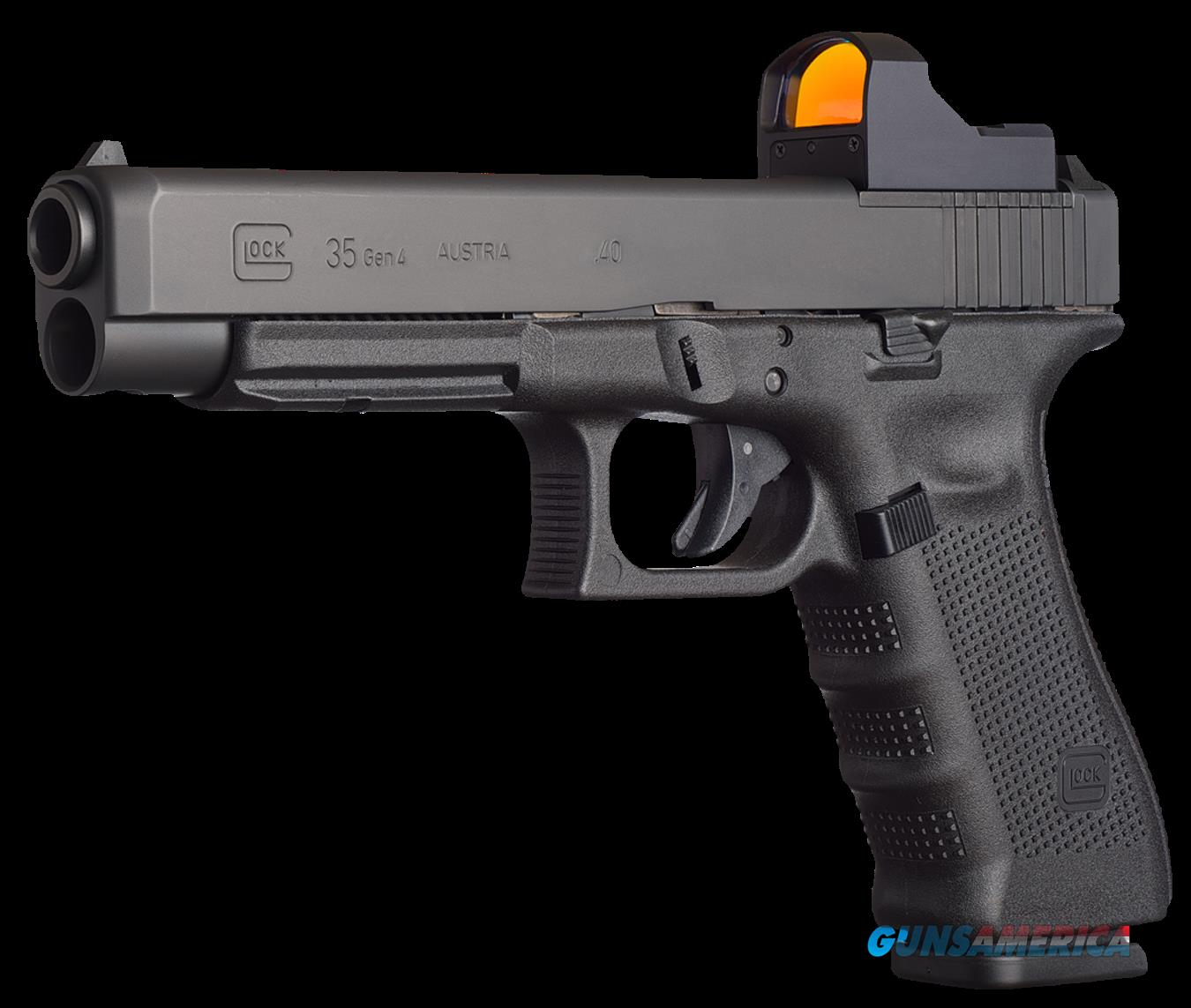 "Glock UG3530103MOS G35 Gen 4 Competition Double 40 Smith & Wesson (S&W) 5.3"" 15+1 Black  Guns > Pistols > G Misc Pistols"