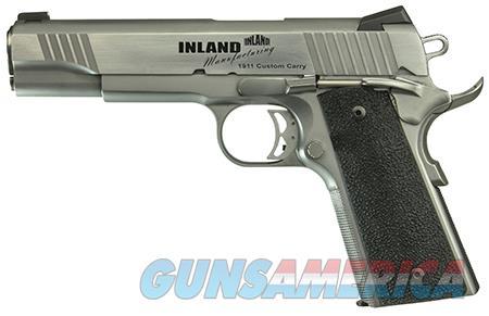 "Inland Mfg 1911 Custom Carry 45 ACP Single 5"" 7+1 Black Ergo XT Grip Stainless Slide  Guns > Pistols > IJ Misc Pistols"