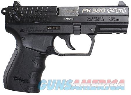 "Walther Arms 5050308 PK380  380 Automatic Colt Pistol (ACP) Single/Double 3.66"" 8+1 Black Polymer  Guns > Pistols > Walther Pistols > Post WWII > PK380"