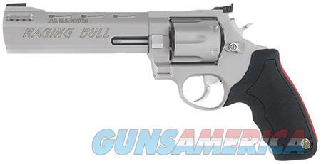 """Tau 2444069 Mod 444 Raging Bull 44 RemMag 6.5"""" 6rd Adj Sight Syn Grip Matte SS  Guns > Pistols > Taurus Pistols > Revolvers"""