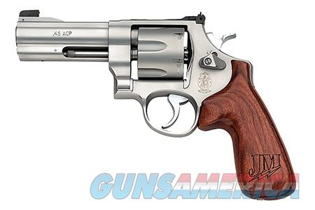 "Smith & Wesson 160936 625 JM Revolver Single/Double 45 ACP 4"" 6 Rd Jerry Miculek Wood Grip Stainless  Guns > Pistols > Smith & Wesson Revolvers > Full Frame Revolver"