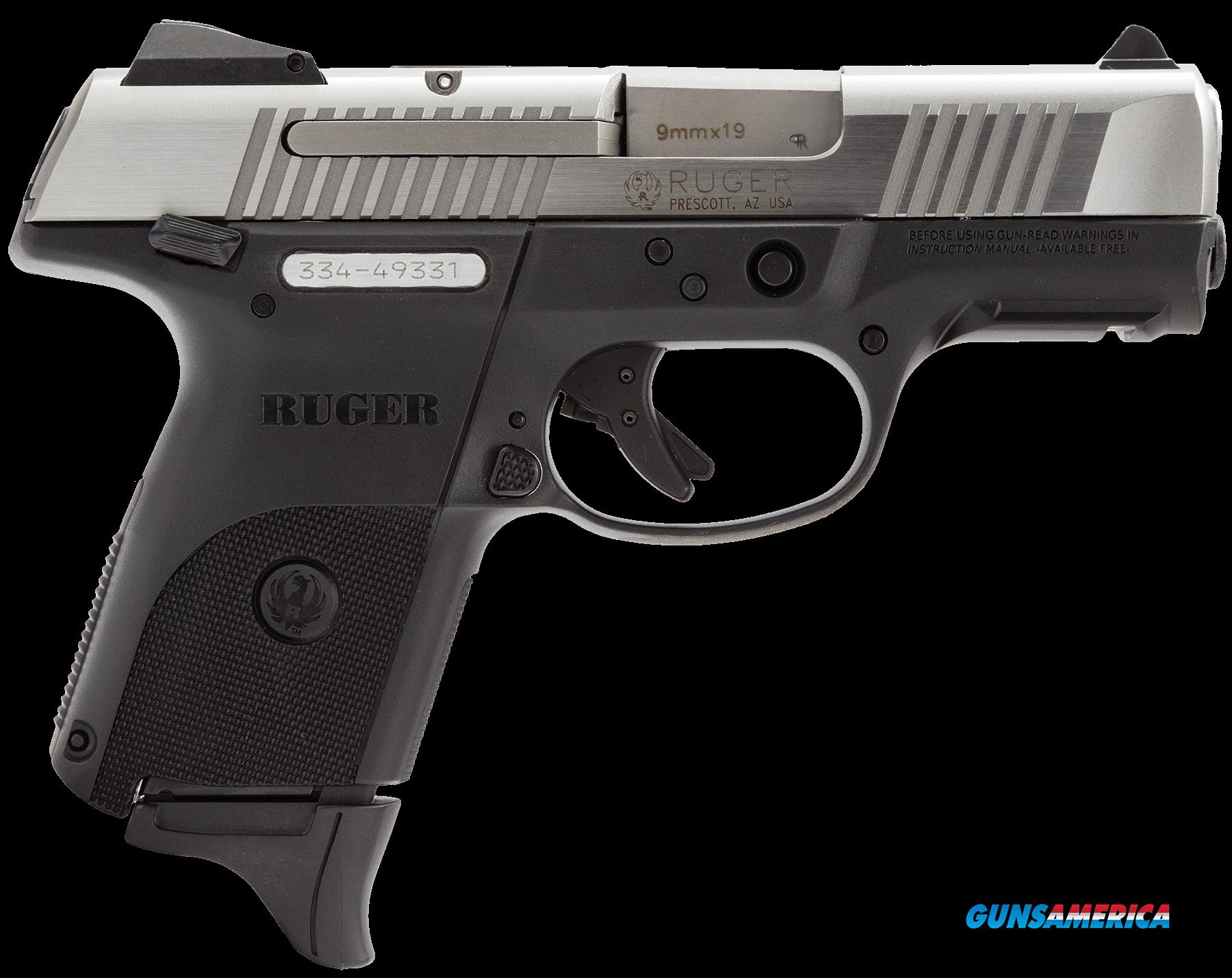 "Ruger 3313 SR9C Compact Double 9mm Luger 3.4"" 17+1 Black Polymer Grip Stainless Steel  Guns > Pistols > R Misc Pistols"