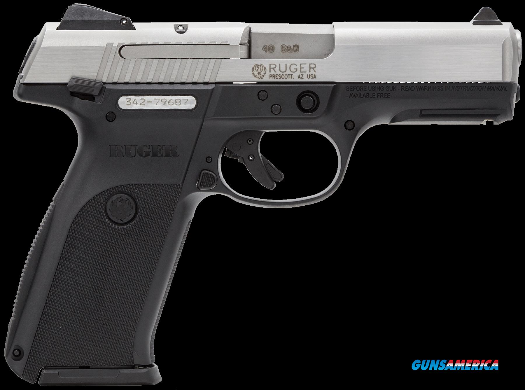"Ruger 3470 SR40 Standard Single/Double 40 Smith & Wesson (S&W) 4.1"" 15+1 Black Polymer Grip  Guns > Pistols > R Misc Pistols"
