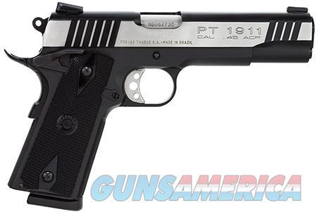 "Taurus 1191101DT 1911 Standard 45 ACP Single 5"" 8+1 Black Synthetic Grip Black/Stainless Slide  Guns > Pistols > Taurus Pistols > Semi Auto Pistols > Steel Frame"